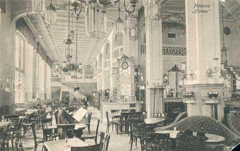 Unutrašnjost kavane Corso gdje je stari AGM popio