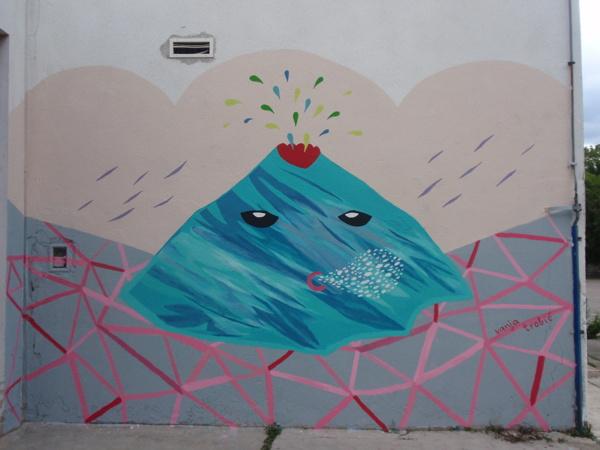 Vanja Trobić, mural na osnovnoj školi u Jelenju kraj Rijeke, 2013