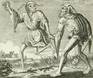 Čitanje knjige ples je smrti, a koreograf je čitatelj